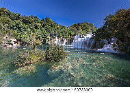 Waterfall (Skradinski buk) in Krka National Park, Croatia