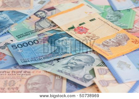 Asian Currencies Background