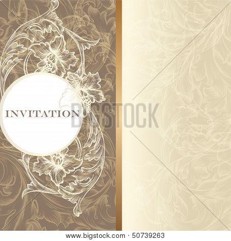 Luxury Invitation Card In Vintage Style