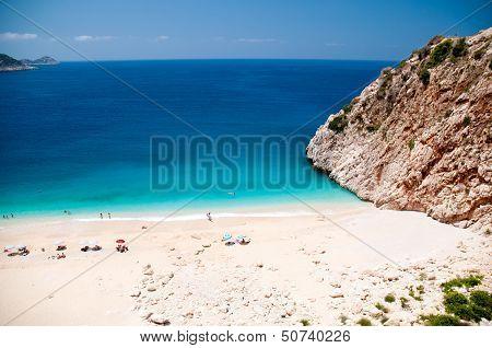 Kaputas beach, Turkey located between the towns of Kas and Kalkan