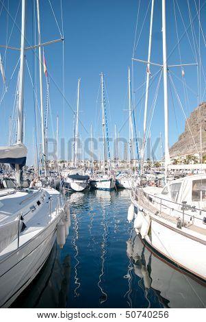 Yachts in Puerto de Mogan, Gran Canaria