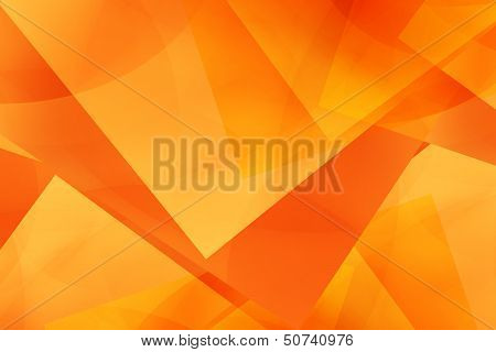 Abstract Geometry Orange