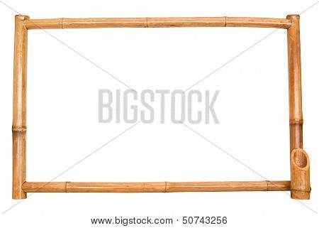 bamboo board on white background.