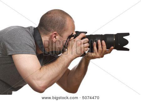 Paparazzi Photographer Isolated