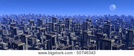 Futuristic cityscape - 3D render