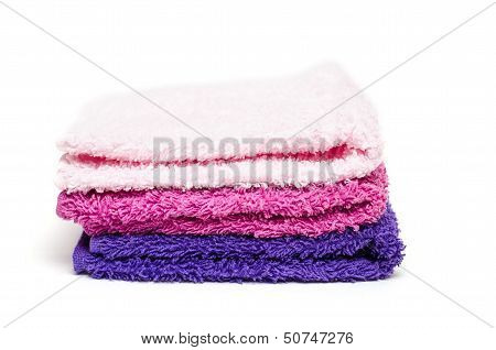 Stack Of Washcloth Of Terry Cloth
