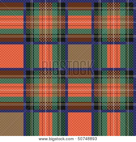 Checkered Tartan Fabric Seamless Texture