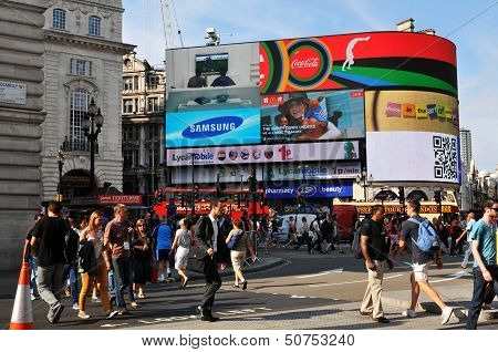 Piccadilly Circus in London, UK