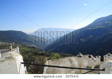 Poqueira Gorge Over Moorish Roof Top