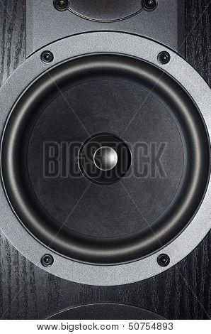 Black loudspeaker
