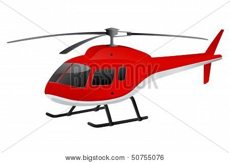 Red cartoon helicopter