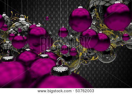 Purple Vintage Christmas