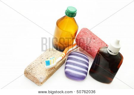 Still Life - Different Means Of Hygiene For A Body