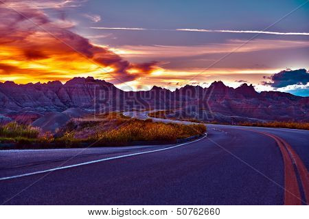 Hdr Badlands Sunset
