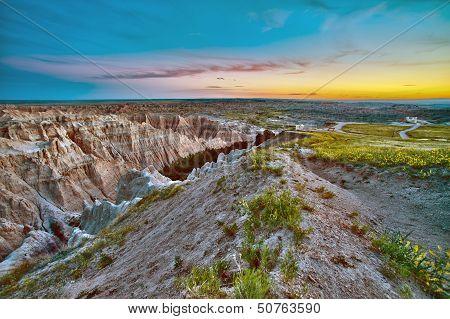 Badlands Sunset Hdr