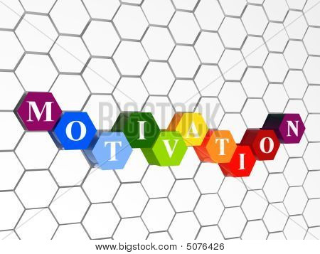 Motivation In Colour Hexahedrons With Cellular Structure