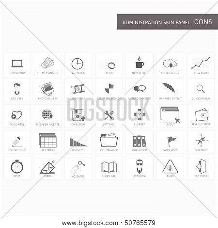 Administration skin panel icons