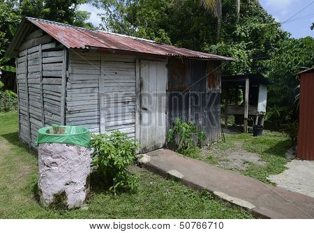 Old Metal And Wooden Shed