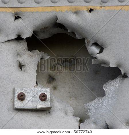 Damaged Metall Of Old Plane