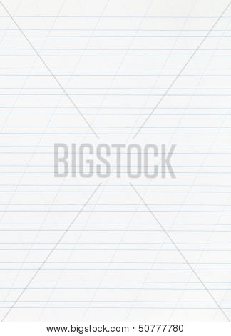 Notebook Narrow Lined Paper Page