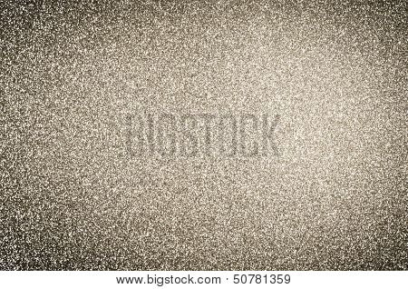 Gold Glitter Texture Background With Vignette