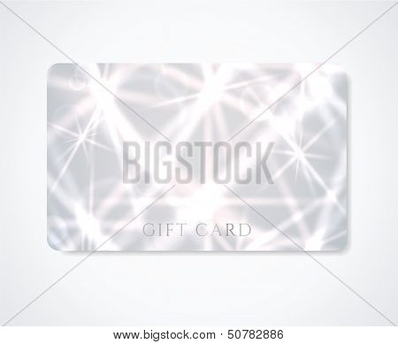 Silver Gift card / Business card / Discount card template