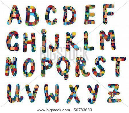 Funny abc geometric design for kids