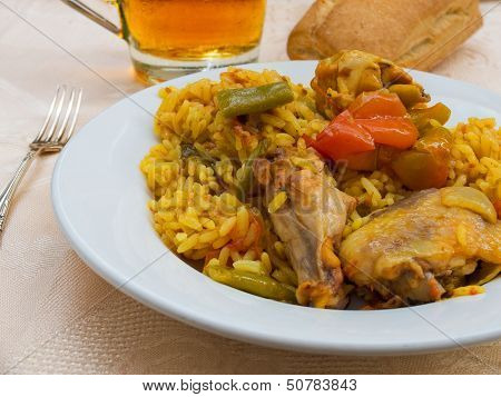 Typical Spanish Paella Tapa.