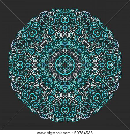 Beautiful aqua ornamental background