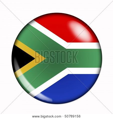Button Flag Of South Africa