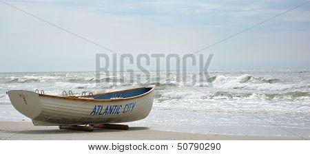 Lifeguard Boat At Atlantic City NJ