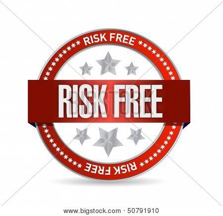 Risk Free Seal Illustration Design