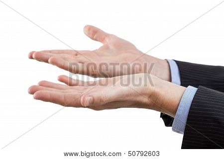 Hands On Isolated Background