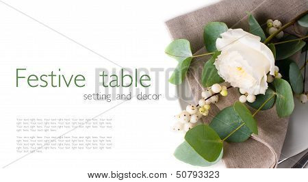 Table Setting With Floral Decoration, Template