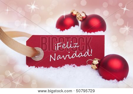 Red Label With Feliz Navidad