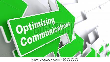 Optimizing Communications. Business Concept.