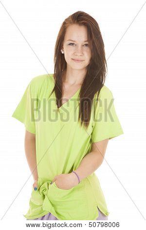 Smirk Nurse Green