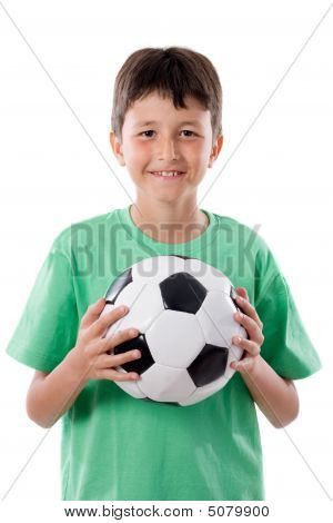 Adorable Boy With Ball