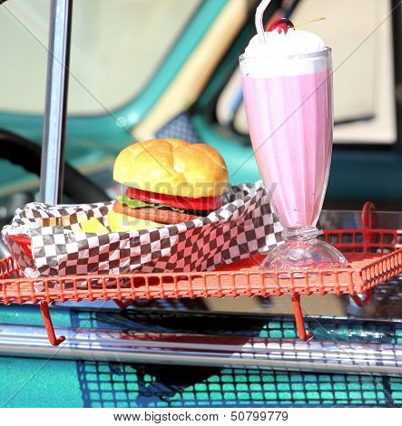 Drive in diner.