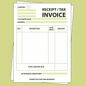 foto of receipt  - Illustration of unfill paper tax invoice form - JPG