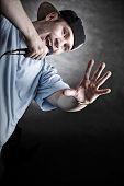 foto of rapper  - Rapper attitude rap singer hip Hop Dancer performing - JPG