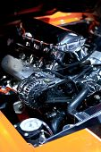 picture of muscle-car  - Muscle Car Under the Hood - JPG