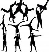 image of break-dance  - Gymnasts acrobats representation  illustration break dance athlete - JPG