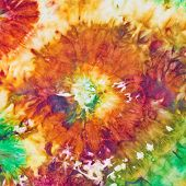 stock photo of batik  - abstract flower pattern of nodular painted batik - JPG