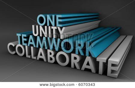 Teamarbeit-Einheit