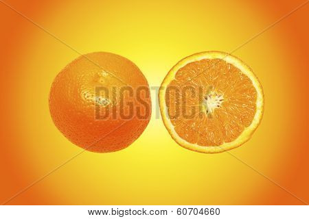 Orange With Colorful Background