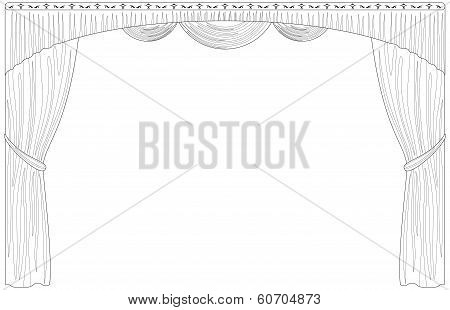 Curtain isolated contour