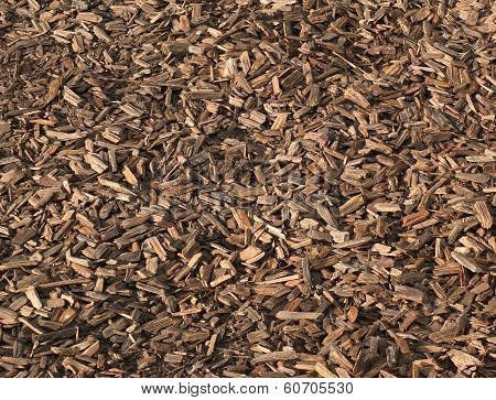 Background wood chippings