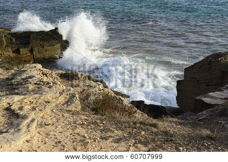 Crashing Wave Sea Foam