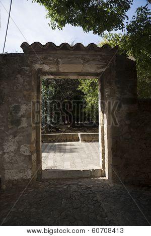 Drystone Wall Door Portal Exterior